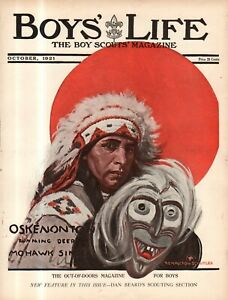 1921 Boys' Life October - Remington Schuyler Indian; Gen. Wingate; Cannibals