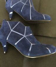 United Nude Navy Mosiac Suede Shoe Boot Size 3 RRP£150