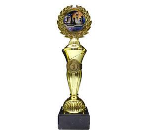 Schach-Pokal mit buntem Emblem und Ihrer Wunschgravur (Hoch1)