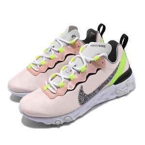Nike Wmns React Element 55 PRM Light Soft Pink Women Running Shoes CD6964-600