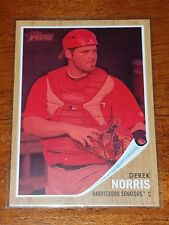 Derek Norris 2011 Topps Heritage Minors Red Tint RC #35 serial numbered 435/620