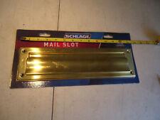 "Brass Schlage Mail Slot new in pack 13 x 3"""