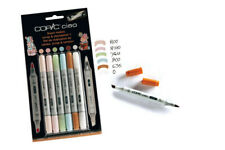 COPIC CIAO 5+1 SCRAP & TEMPLATE SET 1 TWIN TIPPED MARKERS **FREEPOST**