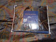 NEW Rare RALPH LAUREN Powell Paisley King Pillow Sham Velvet Faux Leather Trim