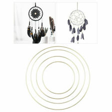 4pcs 15-30cm Metal Dream Catcher Ring Macrame DIY Craft Hoops Home Decoration