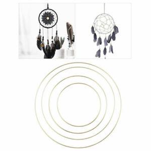 4pcs 15-30cm Metal Dream Catcher Ring Macrame DIY Craft Hoops Home Decoration