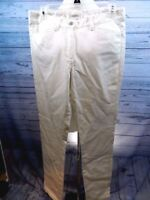 NEW STUDIO M Size 2 Womens Avril Ivory Denim Pants Boot Cut Leg Stretch Waist