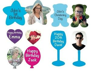 Personalised Table Confetti, 5 different any wording on front your photo on back