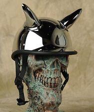 chrome horns for helmets , Horny Mike's devil horns