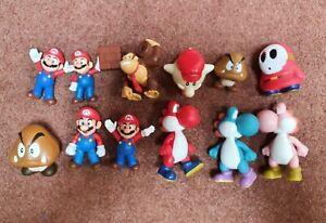 12 Super Mario Bros Figures toys Nintendo 4 to 5 inches old rare vintage items