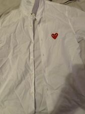 Men's Size Medium PLAY Comme des Garcons Shirt  Used Great Cond. White