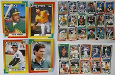 1990 Topps Oakland Athletics A'S Team Set of 32 Baseball Cards With Traded