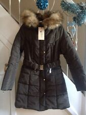 New - Fur Hooded Puffa Coat S