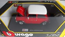 BURAGO MINI COOPER 1969 1/24 RED WHITE ROOF11803