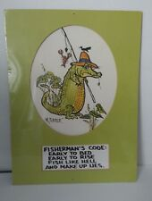 Rare Vintage R. Snyder Watercolor Fisherman's Code