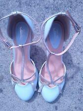 Ladies Joe Browns Cocktail Hour T Bar Blue Shoes Quirky Retro Size 6
