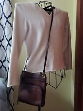 FOSSIL Brown Leather Crossbody Pocketbook Purse Built-in Wallet Section EUC