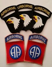 Lot de 5 Patches US 82nd et 101st Airborne para D-Day cut edge WW2 - REPRO