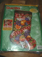 Bucilla Della Robbia Christmas Stocking Needlepoint Kit 60768 New & Sealed