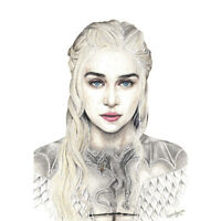 Wayne Maguire Tattooed Mother Dragons Daenerys Inked Ikon Canvas Art Print
