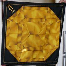 VINTAGE Foulard soie diamant jaune CARTIER Yellow Diamond Silk Scarf Seide Tuch