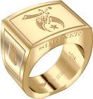 Men's Shriner 10k Yellow or White Gold Freemason Masonic Ring Sizes 8 to 14