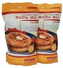 Belgian Waffle Style Mix Luxury 1kg Mixture Waffles Bag Best Gluten 2 X Liege