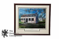 John W. Jones Slave Street Limited Edition Lithograph Boone Hall Plantation SC