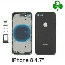 """For iPhone 8 4.7"""" Back Battery Cover Glass Plate Housing Side Buttons Black New"""