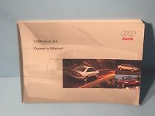98 1998 Audi A4 owners manual