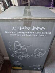 Ickle Bubba Stomp v3 Baby Travel System - Black