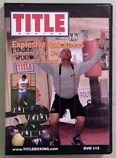 title boxing  EXPLOSIVE QUICKNESS dynamic first step speed and thrust    DVD