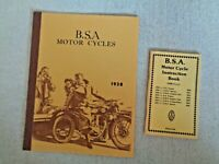 1938 BSA MOTOR CYCLE CATALOG Motorcycles Sidecars Empire Star de Luxe Tourer 500