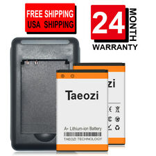 [24 Month Warranty] 2x 1600mAh Battery + Charger For Nokia 6086 6555 6620 BL-5C