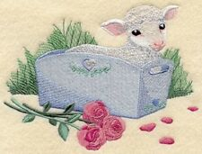 Embroidered Short-Sleeved T-shirt - Lamb A8072 Size S - Xxl