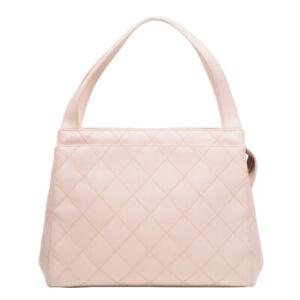 Auth CHANEL Bicolore Mini Hand Bag Pink beige Lambskin 5637705 Women