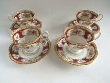 Lot of 4 Royal Albert Lady Hamilton Demitasse Tea Cup & Saucer Sets England