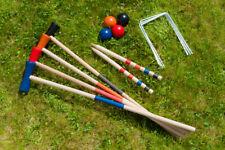 Nouveau 4 joueurs complet set de croquet extérieur jardin jeu de 4 boules mallet