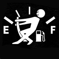 Funny Consumption Gage Empty Car Decal Vinyl Sticker For Fuel Tank Lid Cover