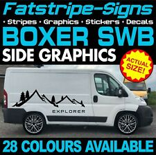 PEUGEOT BOXER SWB L1 GRAPHICS STICKERS STRIPES DECALS DAY VAN CAMPER MOTORHOME