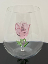 The Stemless Rose Wine Glass Crystal Lead-Free SHIPS TODAY