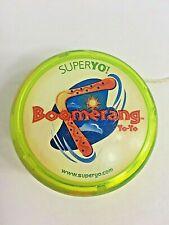 "Vintage Boomerang YoYo, Super Yo, Yellow Red Blue 36"" String, Classic Toy/Game"