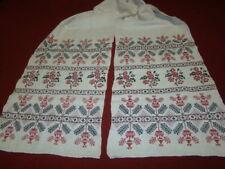 Vintage Ukrainian embroidered homespun linen rushnyk Poltava region 1920's #841