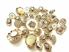 40pcs Mixed Gold Acryic Buttons, Embellishments, Sewing, Dress Making, Craft