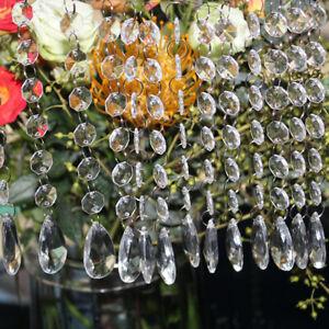 60pcs Acrylic Crystal Beads Chain Chandelier Garland Hanging Wedding Home Decor