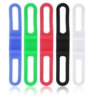 5pcs Silicone Rubber Bike Bicycle Holder Mount Tie Strap Elastic Bandage SY