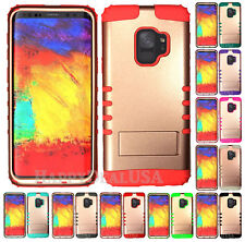 for Samsung Galaxy S9 & Plus - KoolKase Hybrid Silicone Cover Case - Rose Gold