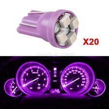 20X T10 Wedge W5W 168 194 2825 Bulb Purple LED Instrument Panel Light Lamp