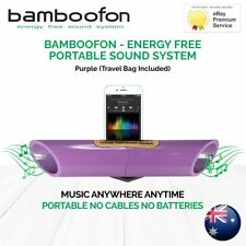 BambooFon - Energy Free Portable Sound System - Purple (Travel Bag Included)
