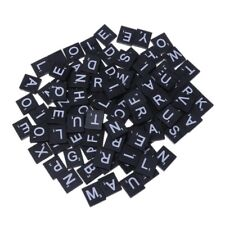 100Pcs Wooden Alphabet Scrabble Tiles Black Letters For Craft Wood Embellishment